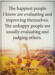 judging people - the happy & unhappy