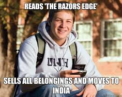 Razor's Edge - he moves to india