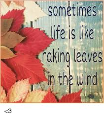 Living has risks without certainty. So do you want to try raking leaves on a windy day?