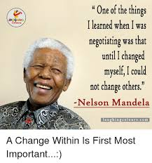 negotiating - with yourself by Mandela