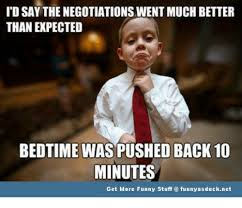 negotiations - boys bedtime