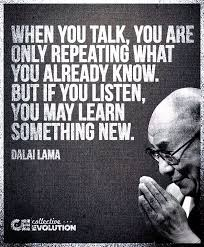 We have two ears and one mouth for a reason…. but is that all we need…