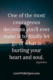 Self development - letting go - courageous