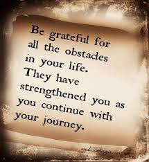 barriers obstacles - be grateful - learning