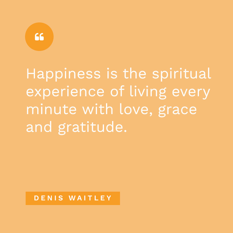 Happiness living with love grace gratitude